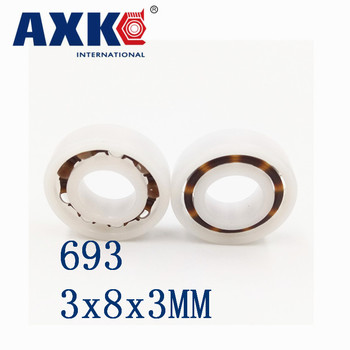 2018 Real Sale Thrust Bearing Rolamentos Axk 693 Pom (10pcs) Plastic Ball Bearings 3x8x3 Glass Balls 3*8*3mm