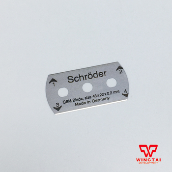 4 Vnt/Set Schroder Blade GSM-100 Ratas Knyga Cutter/ Apvalus Audinys, Pjovimo 100cm^2 GSM pavyzdys Cutter