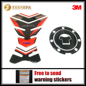 Motorcycle Carbon Fiber 3D Adhesive Tank Pad Protective Decal Stickers Fit For Honda CBR1000RR FireBlade HRC CBR600RR F5